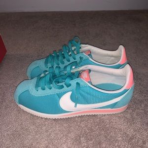 Nike Cortez women's blue and pink